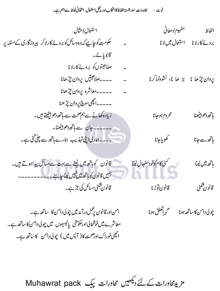urdu language essays